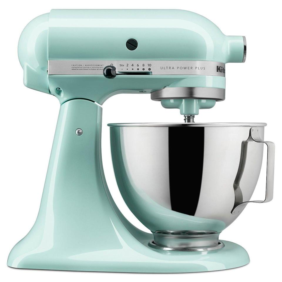 """<p><a class=""""link rapid-noclick-resp"""" href=""""https://www.target.com/p/kitchenaid-ultra-power-plus-4-5-qt-tilt-head-stand-mixer-ksm96/-/A-51575208"""" rel=""""nofollow noopener"""" target=""""_blank"""" data-ylk=""""slk:BUY NOW"""">BUY NOW</a> <strong><em>$250, target.com</em></strong><br></p><p>KitchenAid's mixer is almost always on sale at Target — meaning shoppers are always buying it.</p>"""
