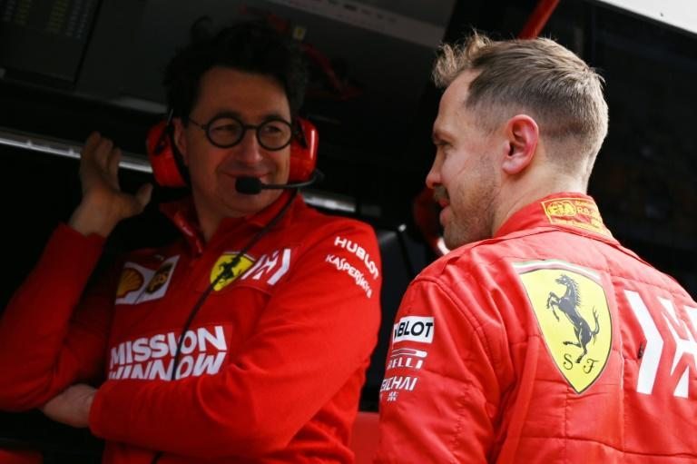 'We love him,' Ferrari team principal Mattia Binotto said of Sebastian Vettel