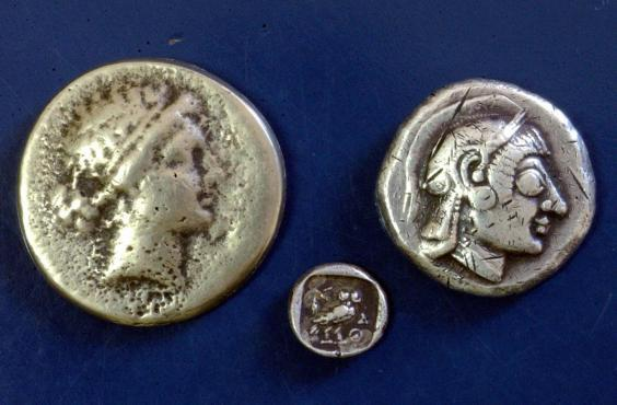 These Greek coins date back 2,400 years (AFP/Getty)