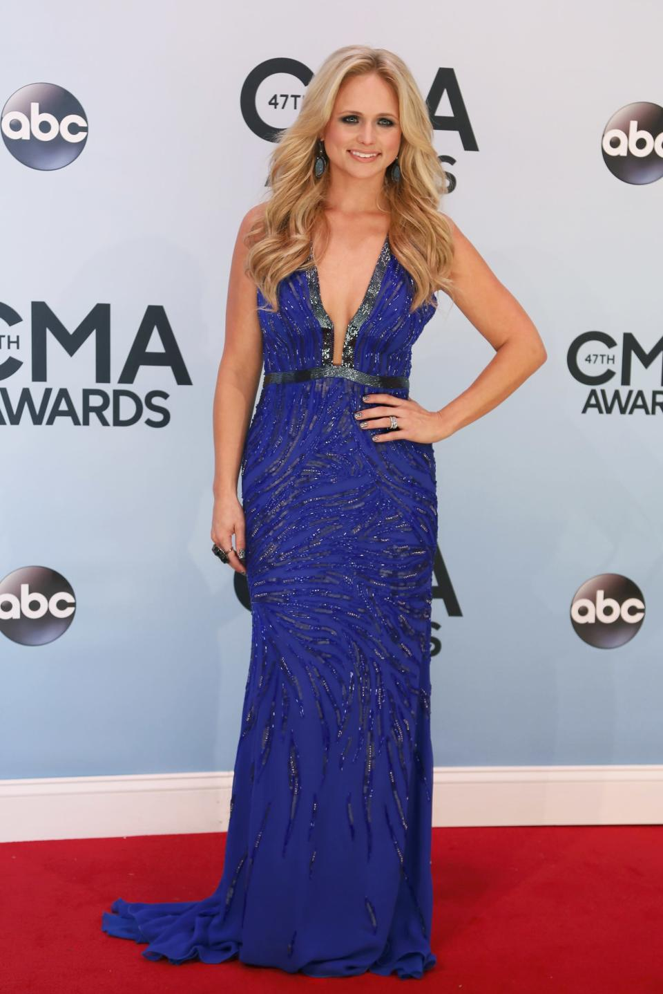Singer Miranda Lambert arrives at the 47th Country Music Association Awards in Nashville, Tennessee November 6, 2013. REUTERS/Eric Henderson (UNITED STATES - Tags: ENTERTAINMENT)