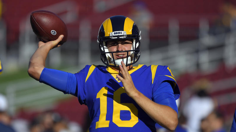 The Los Angeles Rams and quarterback Jared Goff are reportedly finishing up a four-year contract extension. (AP)