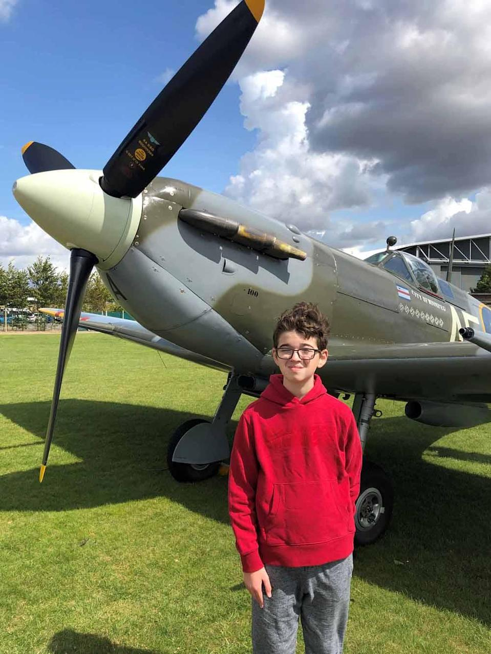Daniel, who loves planes, pictured at Ducksford International Air Museum in 2018. PA REAL LIFE COLLECT