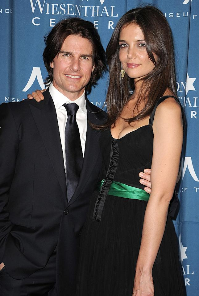 """<a href=""""http://movies.yahoo.com/movie/contributor/1800015725"""">Tom Cruise</a> and <a href=""""http://movies.yahoo.com/movie/contributor/1800018992"""">Katie Holmes</a> attend the 2011 Wiesental Center National Tribute Dinner In Honor Of Tom Cruise in Los Angeles on May 5, 2011."""