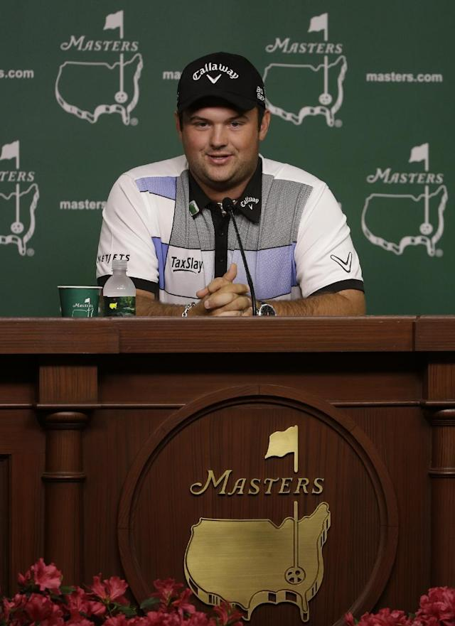 Amateur Patrick Reed speaks during a press conference at the Masters golf tournament Monday, April 7, 2014, in Augusta, Ga. (AP Photo/Darron Cummings)