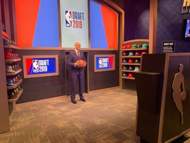 PHOTO: The NBA Experience allows you to get drafted to your favorite team and snap a photo with NBA Commissioner Adam Silver. (Shannon McLellan/ABC)