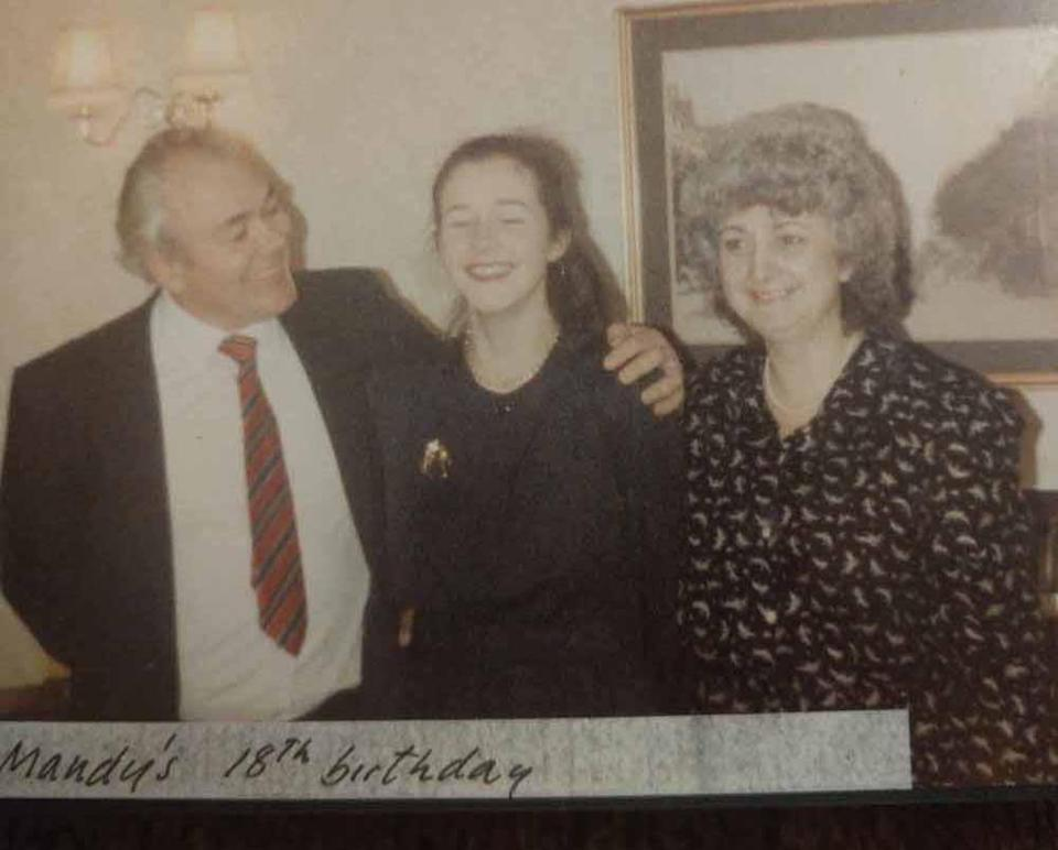 Amanda with her adoptive parents Melvin and Freda on her 18th birthday. PA REAL LIFE COLLECT