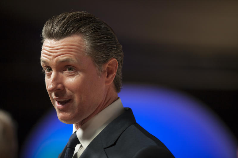 Gavin Newsom called for significant reform to horse racing in California. (Getty)