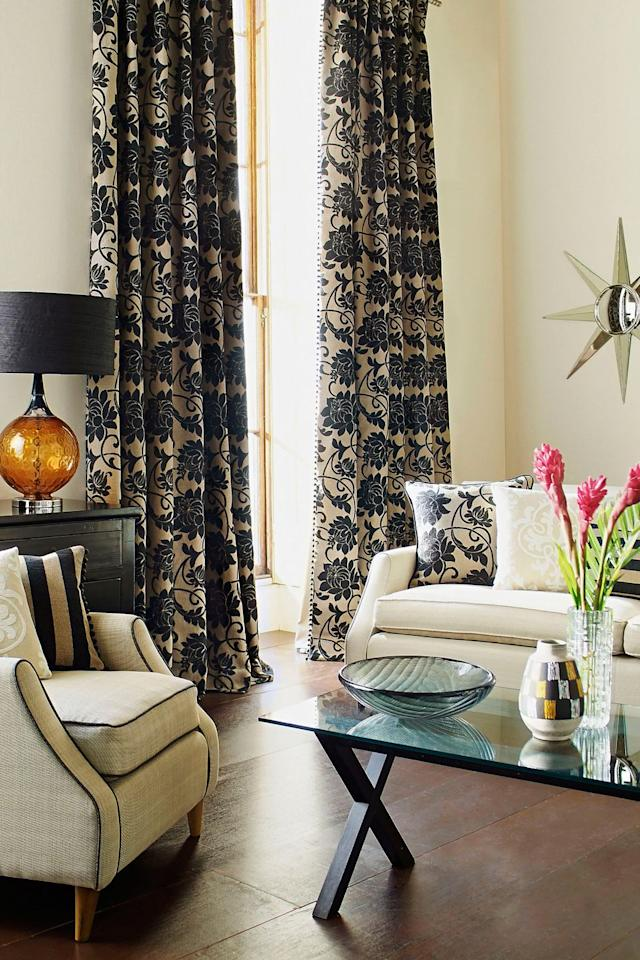 "<p>""Updating floor-to-ceiling window panels with new fabric and hardware is imperative and helps to refine a space,"" says Odom. Even better: He says drapery will last for years, so you'll get to enjoy your new curtains for a long time before you sell.</p>"