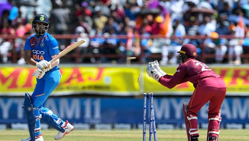 India vs West Indies Highlights 1st ODI 2019 Match: Play Abandoned Due to Heavy Rains