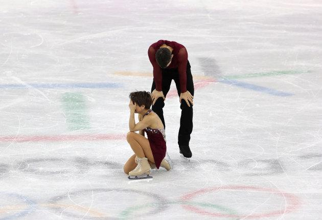 Canada's Meagan Duhamel and Eric Radford took bronze in the pairs event.