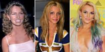 """<p>When Britney Spears got her first big break in the late '90s, she was a <a href=""""https://www.cosmopolitan.com/entertainment/celebs/g20926247/britney-spears-fashion-style-evolution-photos/"""" rel=""""nofollow noopener"""" target=""""_blank"""" data-ylk=""""slk:fashion"""" class=""""link rapid-noclick-resp"""">fashion</a> and beauty ~icon~ to tweens and teens (and adults, let's be real) everywhere. And I, for one, was always impressed by how much she mixed it up. Bangs! Pigtails! Extensions! <a href=""""https://www.cosmopolitan.com/entertainment/news/g5755/britney-spears-throwback-fashion-style-outfits/"""" rel=""""nofollow noopener"""" target=""""_blank"""" data-ylk=""""slk:Fedoras!"""" class=""""link rapid-noclick-resp"""">Fedoras!</a> If there's a style or accessory that exists on this sweet earth, Brit has tried it. Don't worry, of course I've done the photo research to prove it. Please enjoy Britney's hair evolution throughout her career, from the early days of <em>...Baby One More Time</em> to her Vegas residency. Some styles you'll def remember and love, while others are, um, better left in the past (looking at you, cheesy prom curls).</p>"""
