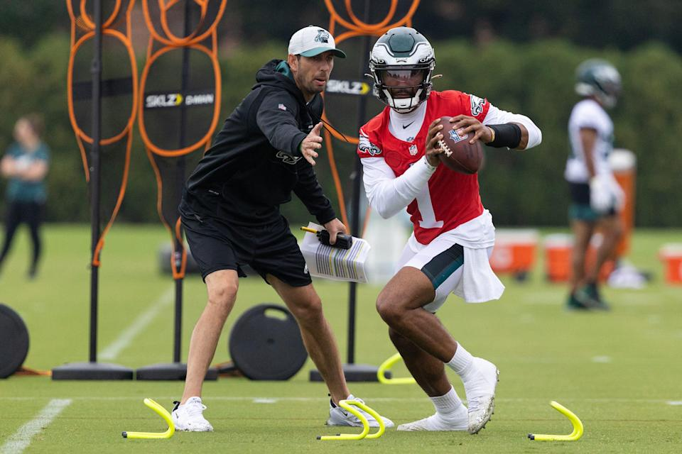 Eagles quarterback Jalen Hurts is entering his second season with Philly.