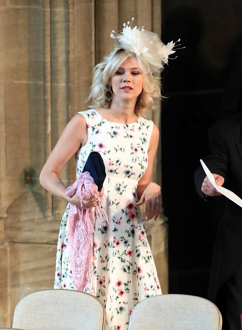 Joss Stone arrives at St George's Chapel at Windsor Castle for the wedding of Prince Harry to Meghan Markle on May 19, 2018 in Windsor, England.