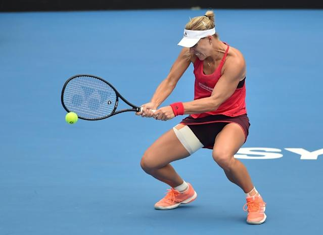 Angelique Kerber of Germany is unbeaten this year (AFP Photo/PETER PARKS)