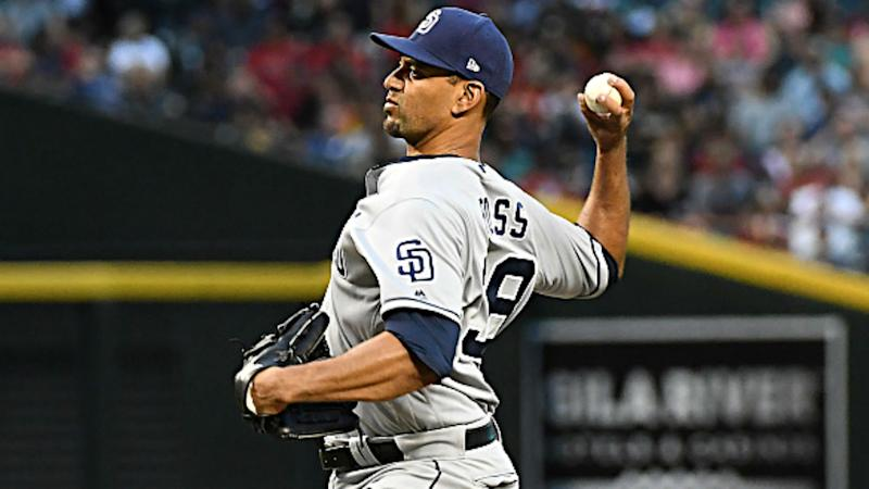 Padres' Ross pitching no-hitter thru 7 innings vs D-backs