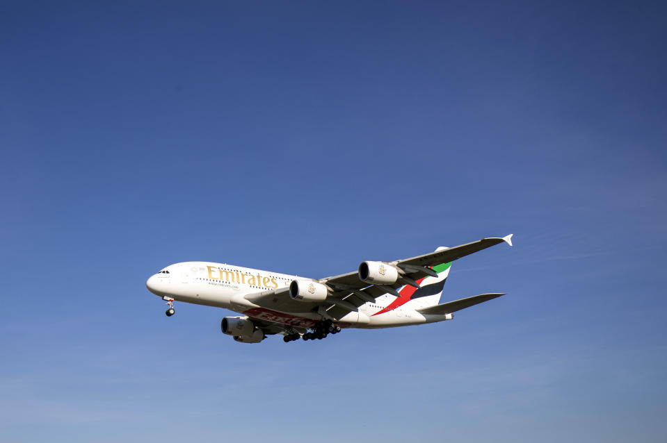An Emirates Airbus A380 plane comes into land at Heathrow Airport from Dubai. Airbus has announced it will cease deliveries of its flagship A380 superjumbo passenger jet in 2021.