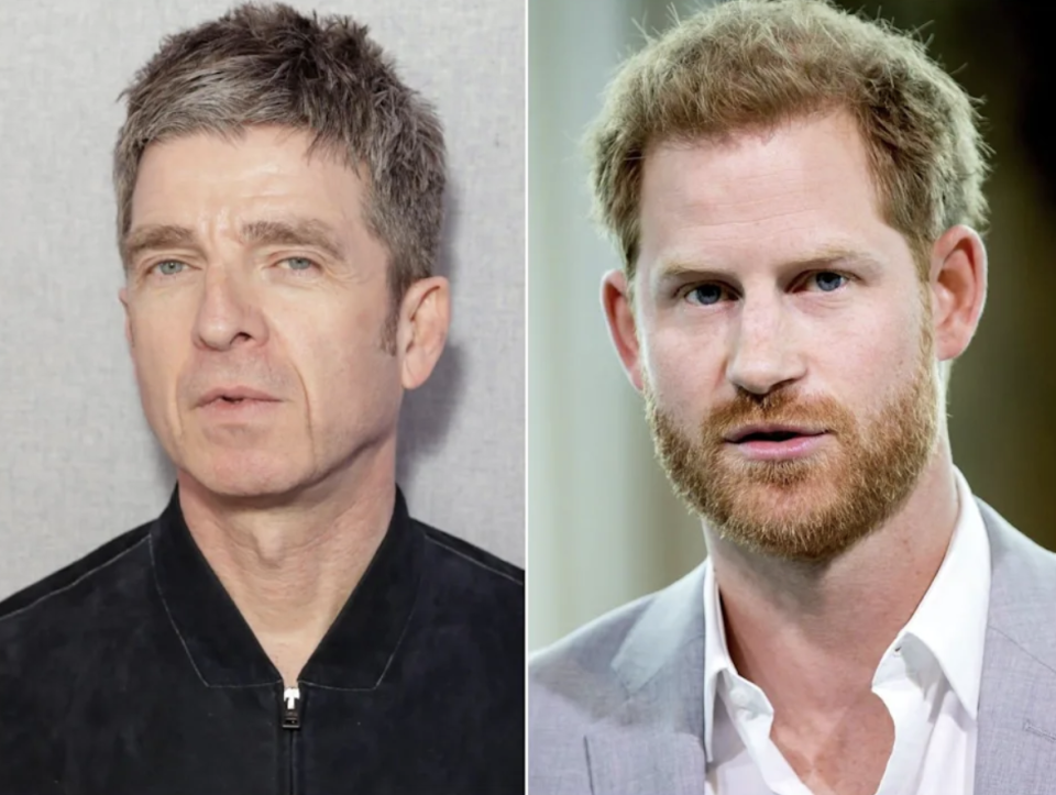 Noel Gallagher has made headlines for speaking out about Prince Harry (Images via Getty Images)