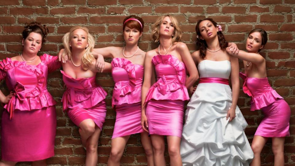 <p> <strong>UK:</strong> Amazon Prime Video (rent or buy) </p> <p> <strong>US:</strong> HBO </p> <p> Its broad appeal and line-up of female stars that really shine are just two of the things to love about this. There are plenty of gags as Kristen Wiig's lead Annie treads the delicate path to matrimony with the bride and fellow bridesmaids. A fun flick with plenty of gross-out moments and cringe-worthy setups. </p>