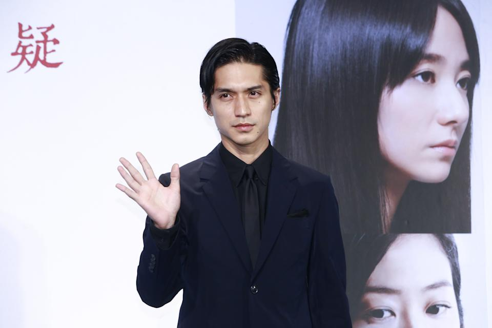TAIPEI, CHINA - APRIL 27:  Japanese actor Ryo Nishikido attends the press conference of film 'The Scythian Lamb' on April 27, 2018 in Taipei, Taiwan of China.  (Photo by Visual China Group via Getty Images/Visual China Group via Getty Images)