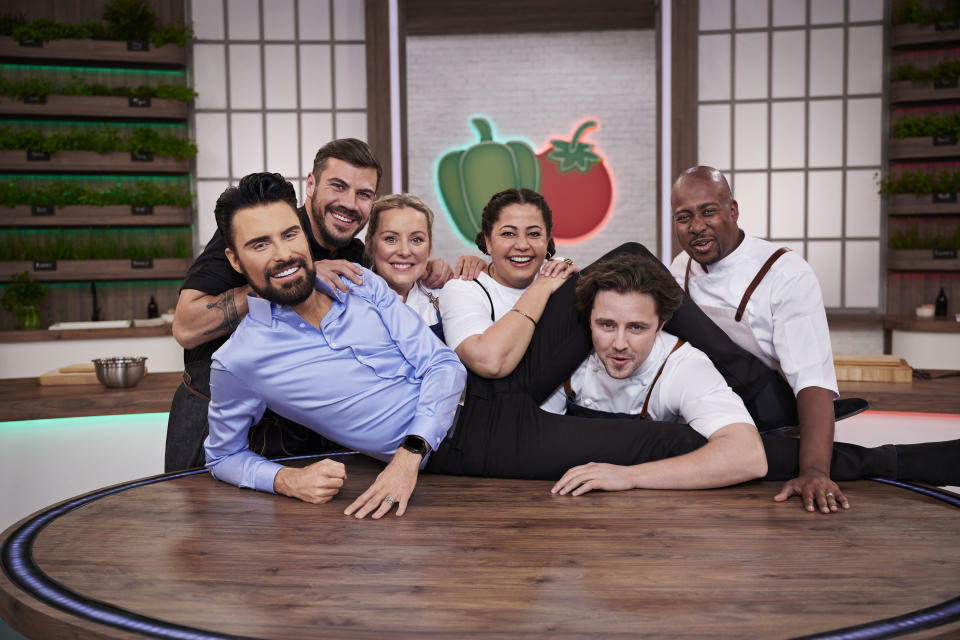 Rylan Clark-Neal fronts the rebooted version of 'Ready Steady Cook'. (Credit: BBC/Endemol /Graeme Hunter)