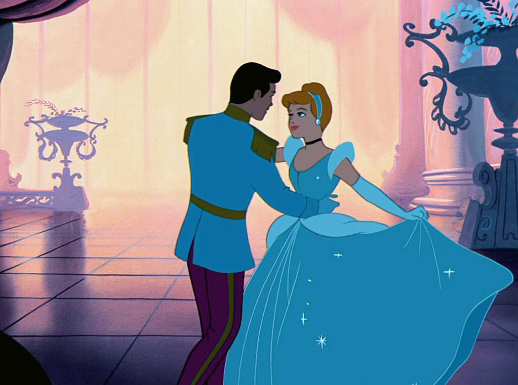 "<a href=""http://movies.yahoo.com/movie/1800047766/info"">Cinderella</a>  Grade: B+   Cinderella gets a little fashion forward with her shoulder pads. The fitted bodice, billowing sparkly skirt, and classy updo is nicely offset by that coquettish choker."