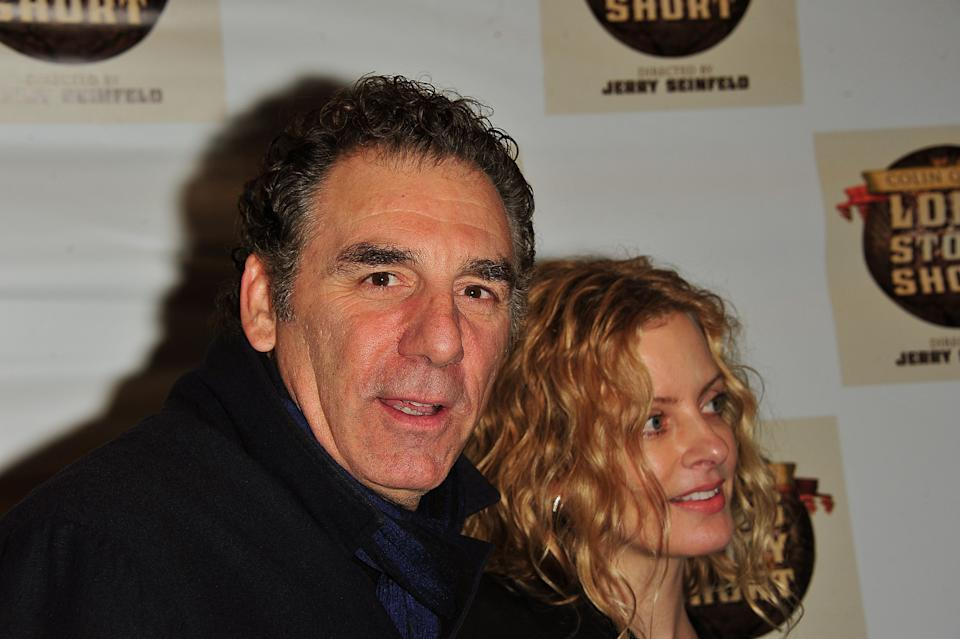 """Comedian Michael Richards and Beth Skipp attend the Broadway opening night of """"Colin Quinn Long Story Short"""" at the Helen Hayes Theatre on November 9, 2010 in New York City. (Photo by Brian Killian/WireImage)"""