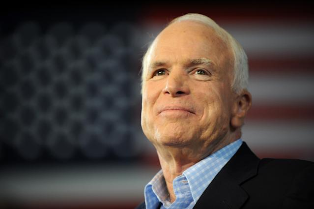 Republican presidential candidate John McCain on the campaign trail in 2008. (Photo: Robyn Beck/AFP/Getty Images)