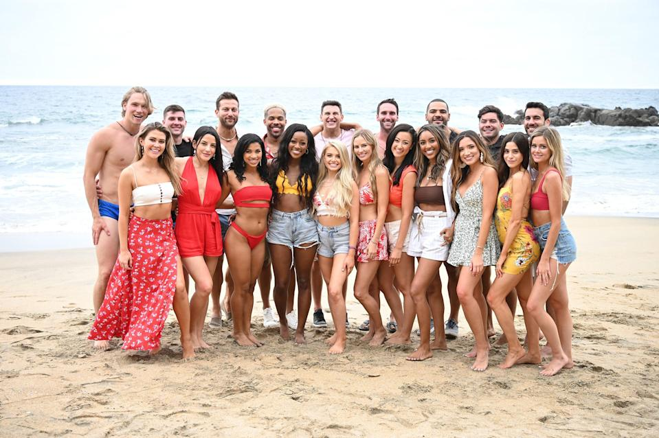 """<p>Ah, it's that time of year again—summertime! Which means the premiere of <em>Bachelor in Paradise </em>is right around the corner on August 16. Reports said <a href=""""https://www.cosmopolitan.com/entertainment/tv/a35902385/bachelor-in-paradise-season-7-cast-dates/"""" rel=""""nofollow noopener"""" target=""""_blank"""" data-ylk=""""slk:season 7 unfortunately had some…issues"""" class=""""link rapid-noclick-resp"""">season 7 unfortunately had some…<em>issues</em></a> with getting a cast together in light of <a href=""""https://www.cosmopolitan.com/entertainment/tv/a35521241/matt-james-rachael-kirkconnell-racist-bachelor-controversy-explained/"""" rel=""""nofollow noopener"""" target=""""_blank"""" data-ylk=""""slk:recent events with Chris Harrison"""" class=""""link rapid-noclick-resp"""">recent events with Chris Harrison</a> (<a href=""""https://www.cosmopolitan.com/entertainment/tv/a36620005/will-chris-harrison-return-bachelor-controversy-explained/"""" rel=""""nofollow noopener"""" target=""""_blank"""" data-ylk=""""slk:who, by the way, officially left the franchise"""" class=""""link rapid-noclick-resp"""">who, by the way, officially left the franchise</a> after 19 years of hosting), but <a href=""""https://realitysteve.com/2021/06/15/the-bachelorette-katie-episode-2-recap-more-bip-contestants-all-that-greg-stuff/"""" rel=""""nofollow noopener"""" target=""""_blank"""" data-ylk=""""slk:Reality Steve dropped the names"""" class=""""link rapid-noclick-resp"""">Reality Steve dropped the names</a> of people in Bachelor Nation who are willing to get down and dirty on the beach this year in the name of true love (or a good hookup, at the very least, LOL). Behold, your <em>BiP</em> season 7 cast! </p><p><strong><em>Editor's note: There are spoilers for Katie's season of </em>The Bachelorette<em> ahead. You have been warned!</em></strong></p>"""