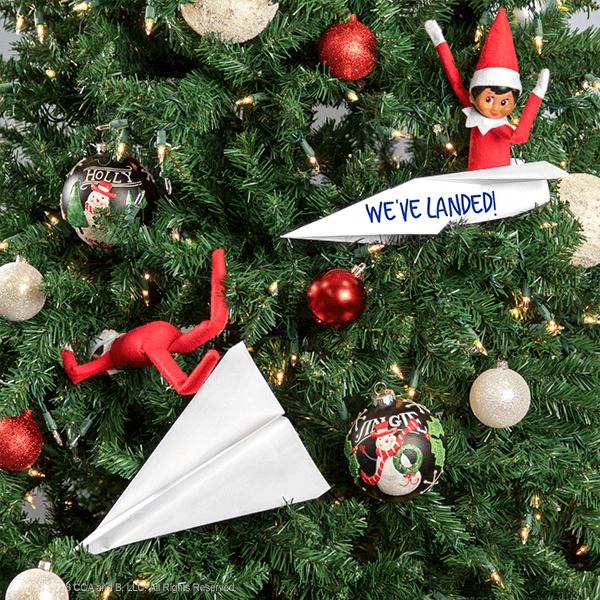 """<p>Paper airplanes are just the thing to create before your Elf's arrival. (Unless he's arriving by reindeer, of course.)</p><p><strong>Get the tutorial at <a href=""""https://elfontheshelf.com/blog/epic-elf-returns/"""" rel=""""nofollow noopener"""" target=""""_blank"""" data-ylk=""""slk:Elf on the Shelf"""" class=""""link rapid-noclick-resp"""">Elf on the Shelf</a>.</strong></p>"""
