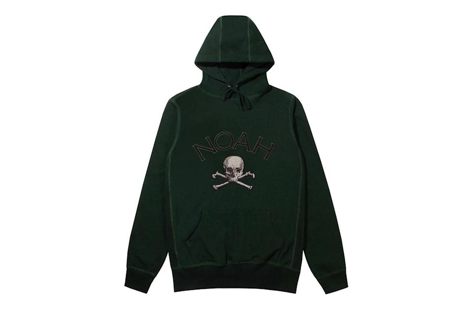 """$148, Noah. <a href=""""https://noahny.com/collections/shop/products/houndstooth-jolly-roger-hoodie"""" rel=""""nofollow noopener"""" target=""""_blank"""" data-ylk=""""slk:Get it now!"""" class=""""link rapid-noclick-resp"""">Get it now!</a>"""