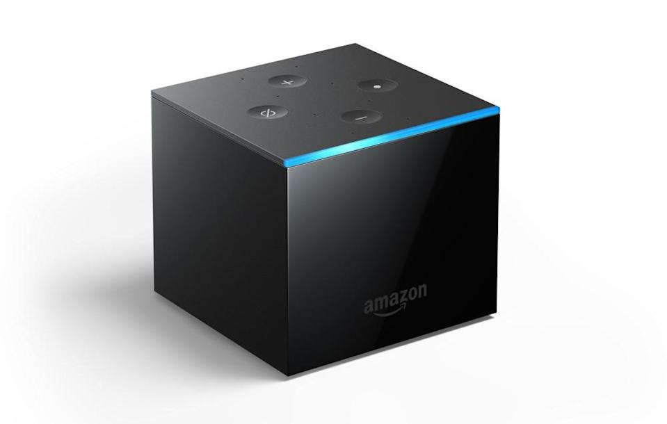 The Fire TV Cube combines Amazon's Fire TV with its Echo speaker.