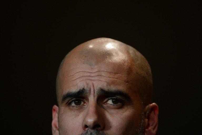 Pep Guardiola attends a press conference before the FIFA Ballon d'Or awards ceremony on January 7, 2013 in Zurich