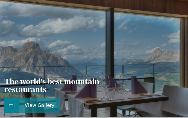 The world's best ski mountain restaurants