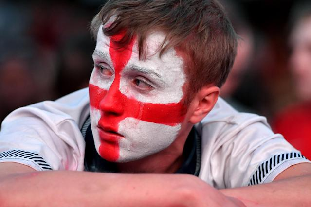A disconsolate England fan.