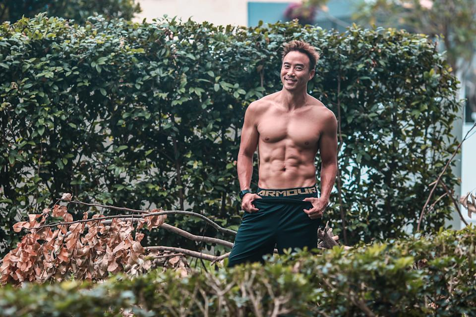 Having to travel a lot without time for workouts during the first season of The Amazing Race Asia made Allan feel insecure about his physique