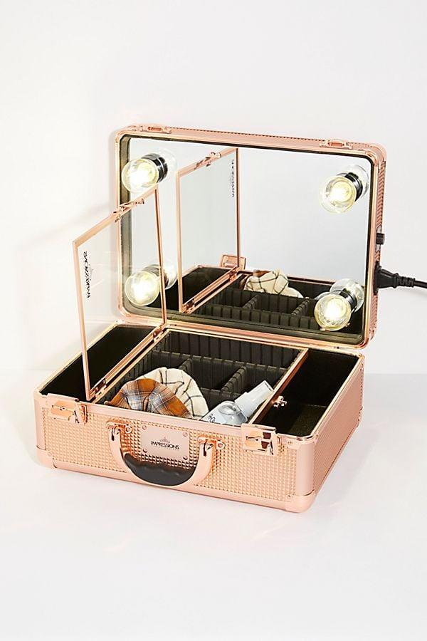 <p>Women on the go will appreciate this <span>Illuminated Vanity Travel Case</span> ($218).</p>