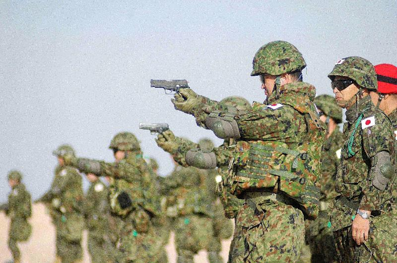 Japanese soldiers carried out non-combat activities in Iraq in the ealry 2000s in Tokyo's first multilateral military mission outside UN peacekeeping operations (AFP Photo/Yasser al-Zayyat)