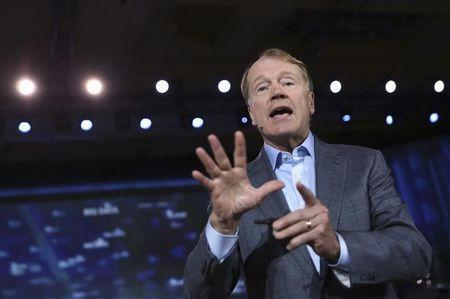 Cisco CEO John Chambers addresses the audience during his keynote speech at the annual Consumer Electronics Show (CES) in Las Vegas