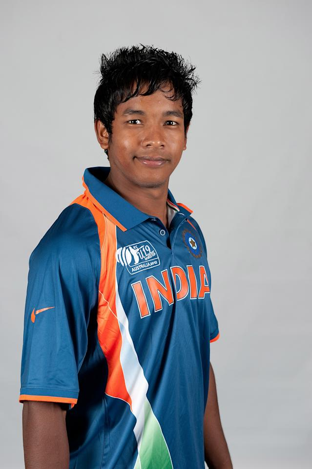 BRISBANE, AUSTRALIA - AUGUST 06:  Aksh Deep Nath of India poses during a ICC U19 Cricket World Cup 2012 portrait session at Allan Border Field on August 6, 2012 in Brisbane, Australia.  (Photo by Matt Roberts-ICC/Getty Images)