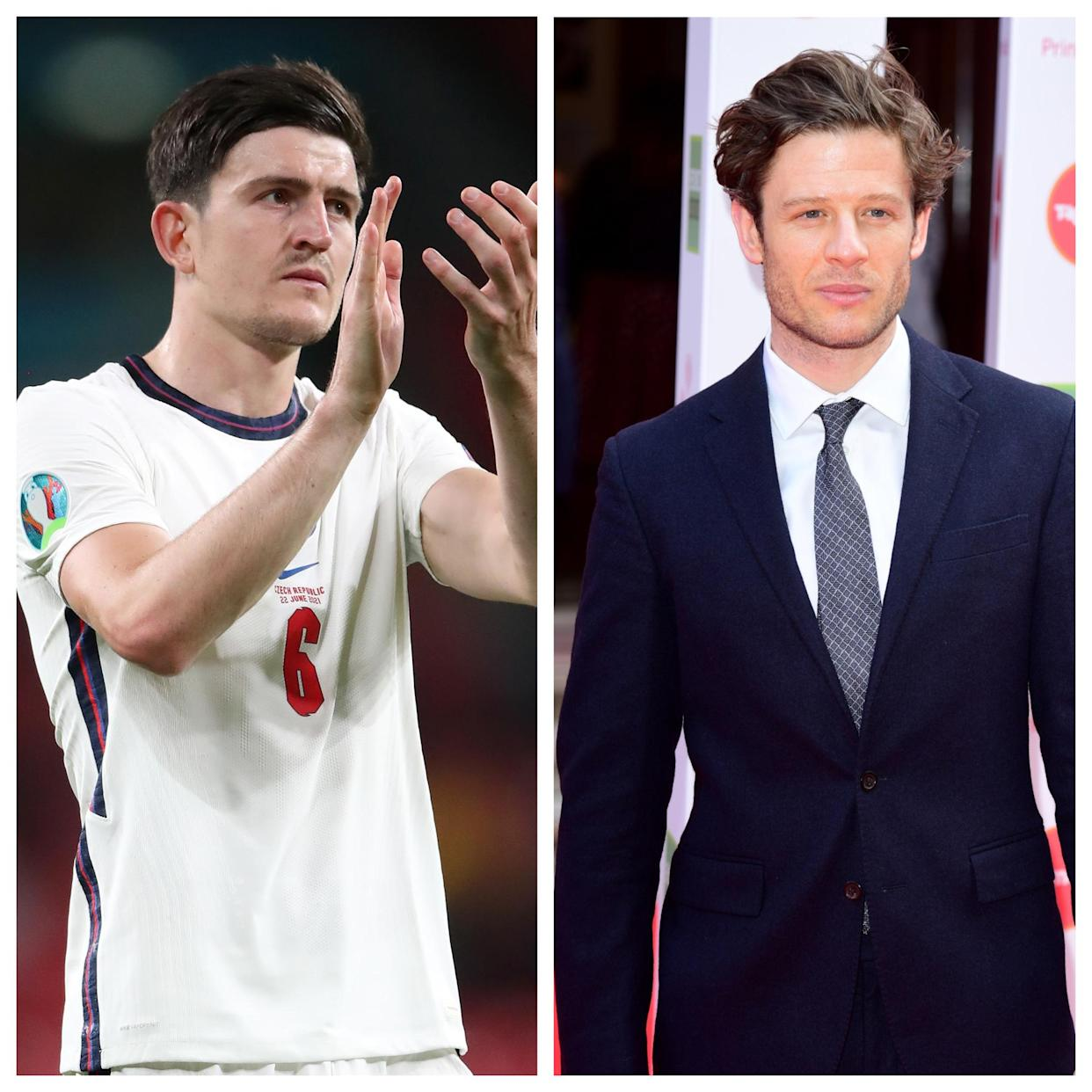 Harry Maguire and James Norton (PA)