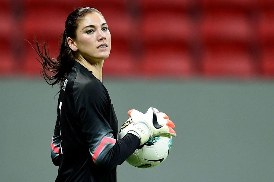The suspension of Hope Solo (pictured) has finally been explained by United States women's national team head coach Jill Ellis. (Getty Images)