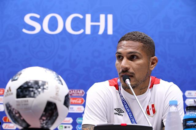 Soccer Football - World Cup - Peru News Conference - Fisht Stadium, Sochi, Russia - June 25, 2018 Peru's Paolo Guerrero during news conference REUTERS/Francois Lenoir