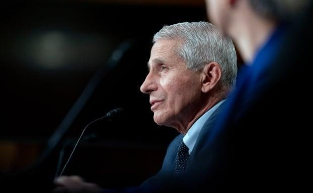 Anthony Fauci, seen here at a U.S. Senate committee hearing on Tuesday, has grown frustrated with what he calls anti-vaccine misinformation. He says almost everyone dying from COVID-19 in the country now is unvaccinated. (Stefani Reynolds/New York Times/The Associated Press - image credit)