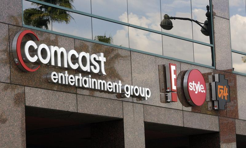The offices and studios of Comcast Entertainment Group in Los Angeles