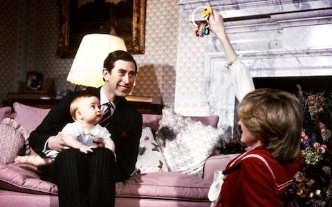 Diana and Prince Charles with Prince William six months after his birth - Credit: PA