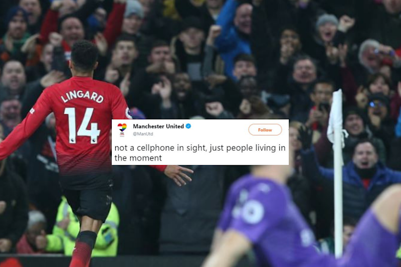 Manchester United Shares Photo of Fans 'Living in the Moment', Twitter Ruins the Party