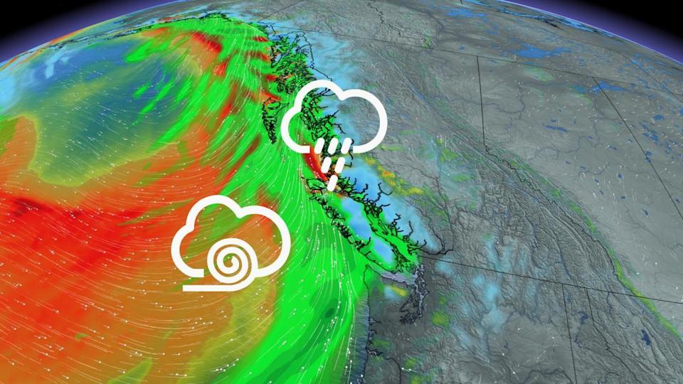 Another stormy period begins in B.C. with the first of multiple lows