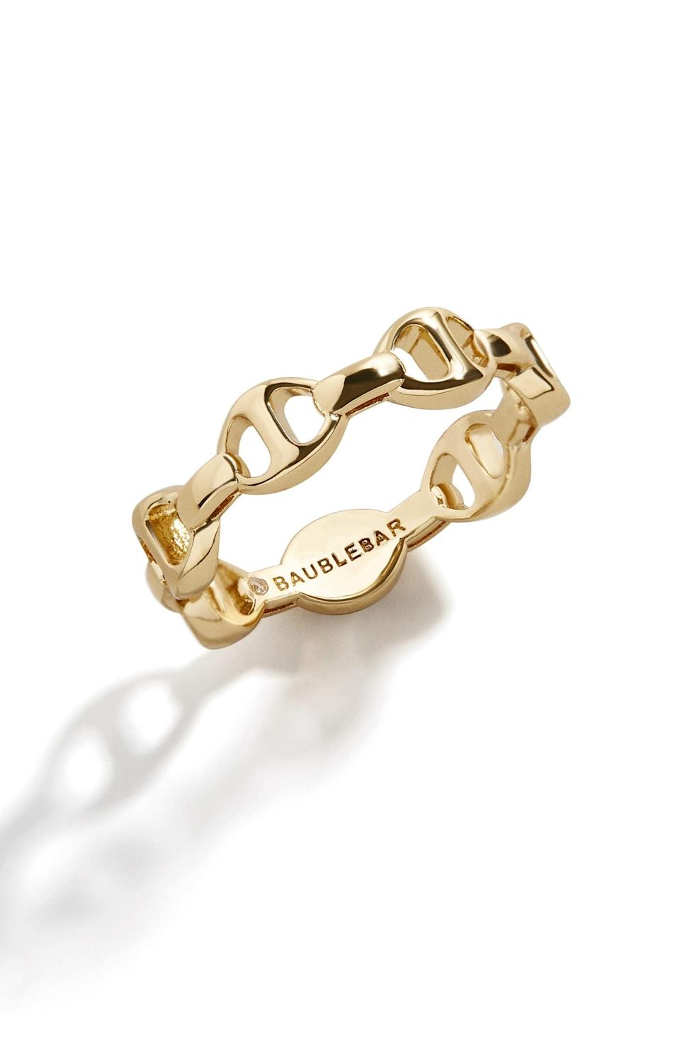 <p>I love the sculpted look of this <span>Jupiter Stacking Ring</span> ($42).</p>