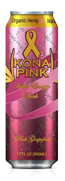 Kona Gold Solutions, Inc. Partnership with the American Breast Cancer Foundation:KONA PINK Hemp Energy Drink Pink Grapefruit