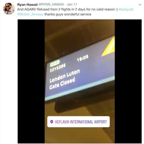 EasyJet have now refunded Hawaii - Credit: @RYAN_HAWAII/Twitter